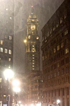 boston haymarket snow february 12 2019 customs house tower