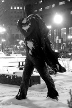 boston haymarket snow february 12 2019 faneuil hall kevin white statue
