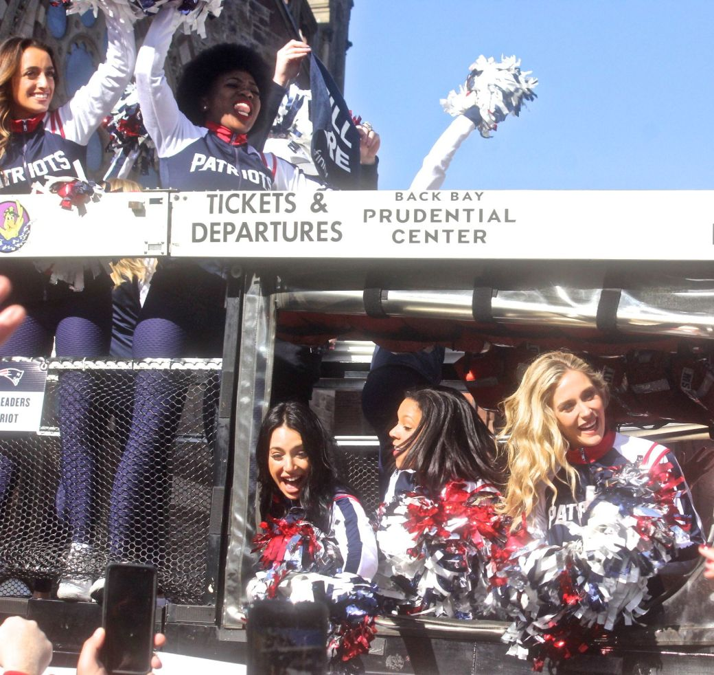 boston new england patriots super bowl celebration february 5 2019 cheerleaders 2