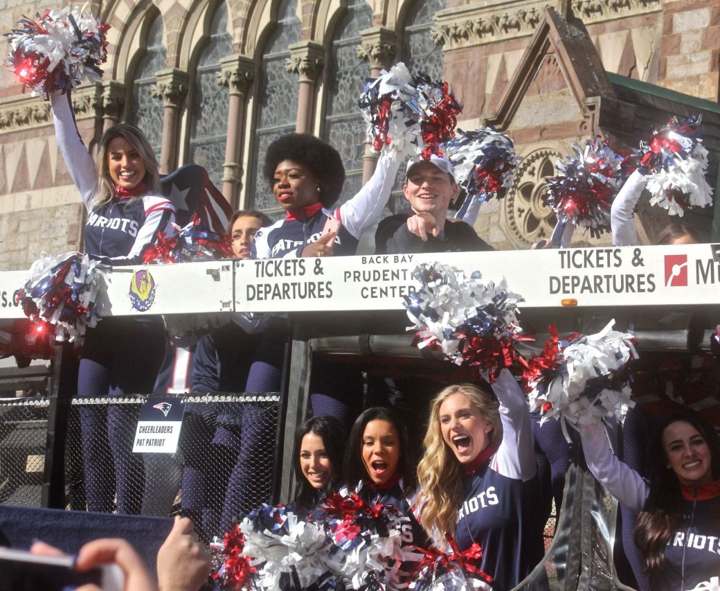 boston new england patriots super bowl celebration february 5 2019 cheerleading