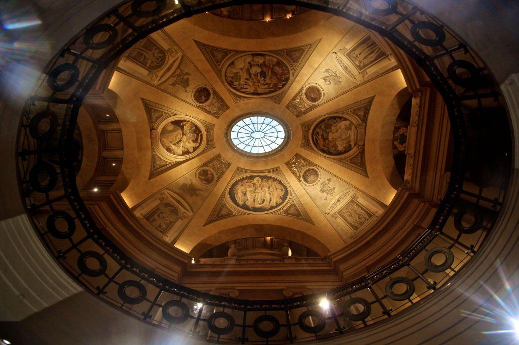 museum of fine arts rotunda upward