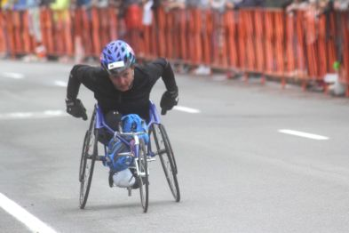 boston marathon april 15 2019 wheelchair competitor