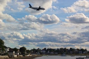 boston winthrop september 8 2019 clouds airplane