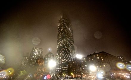 boston hancock tower fog dark