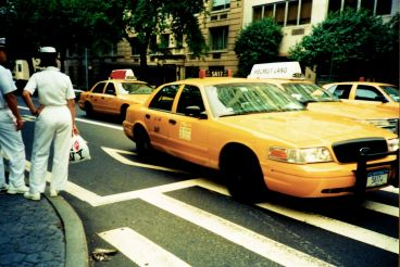 new york city street yellow taxi cabs naval uniforms Lomo Photos 9