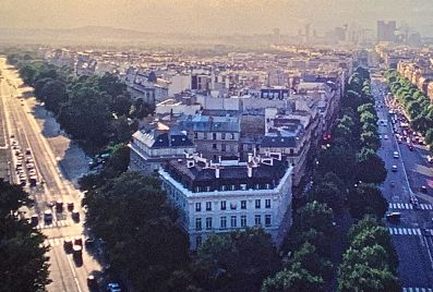 paris above boulevards sunset slides 2001