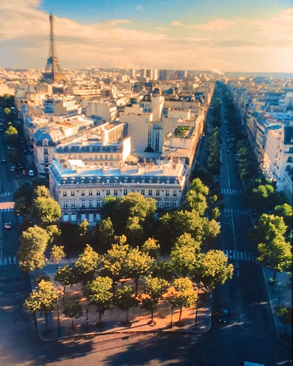 paris from above arc de triomphe boulevards eiffel tower slides 2001