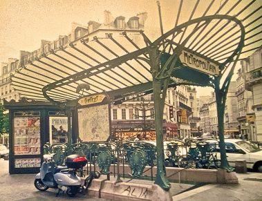 paris metro entrance slides 2001
