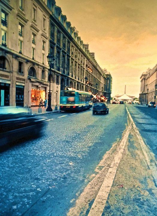 paris street yellow sky slides 2001