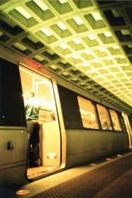 washington dc metro station inside open train Lomo Photos 10