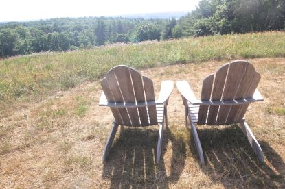 tower hill botanical garden chairs view