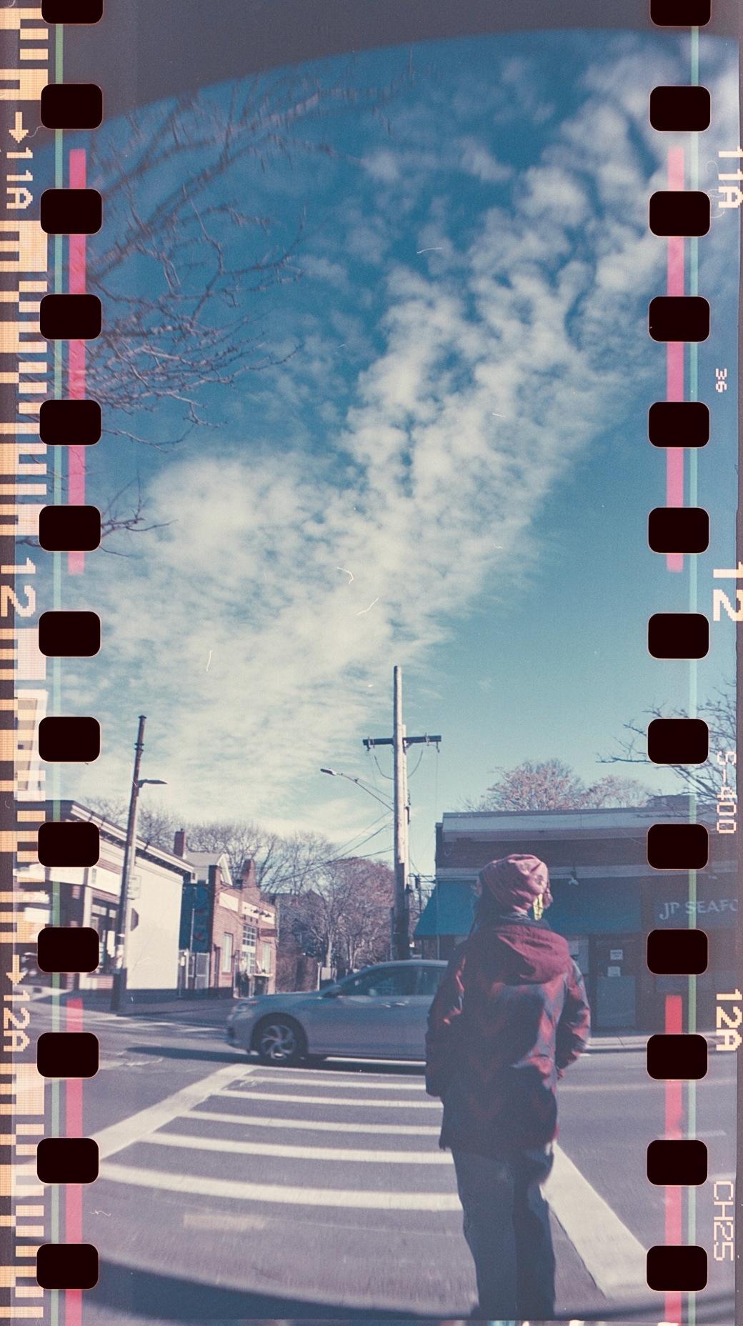 massachusetts jamaica plain centre street sprocket rocket photography fuji 400 sprocket holes 2